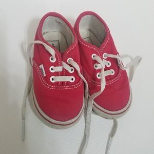 Toddler Red Vans